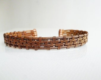 Wire wrapped bracelet, Copper jewelry, Handmade bracelet, Oxidized Bracelet
