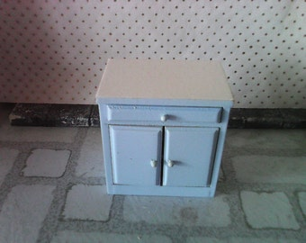 Dollhouse kitchen cabinet unit in Blure 1 12th sale miniature