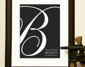 WEDDING GIFT - Couple's Initial Personalized ot make the perfect for a wedding decoration, signage, or guestbook
