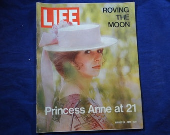 Vintage 1971 Life Magazine August 20 - Princess Anne at 21 - Moon Rover