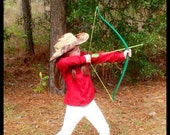 Green Bow and Arrow set for young child (20lbs)