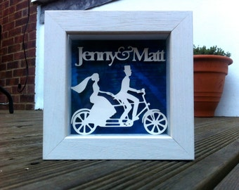 Personalised 3D handmade paper sculpture for Wedding Gift