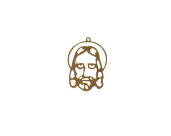 Jesus Charm, Gold Filled, 32x22mm; 1 piece