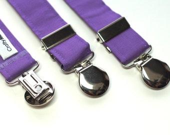 Suspenders - Purple Adjustable Suspenders
