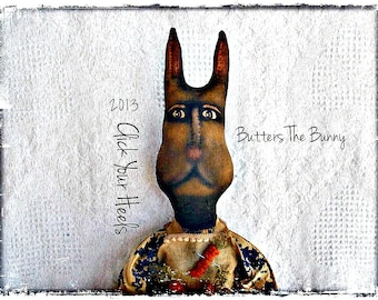 E Pattern  Primitive  Rabbit pattern Butters The Bunny Click Your Heels