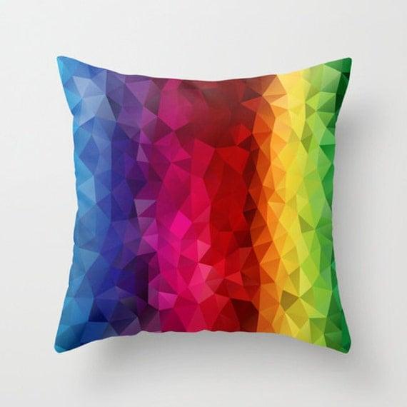 Pillow Cover Rainbow Strips Pillow Cover Throw Pillow Cushion