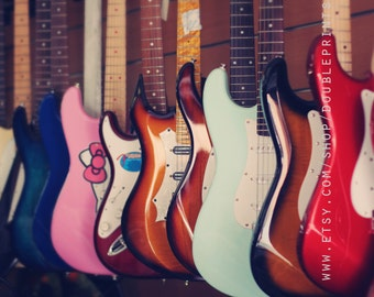 Fine Art Photograph, Guitar Photograph, Colorful Photography