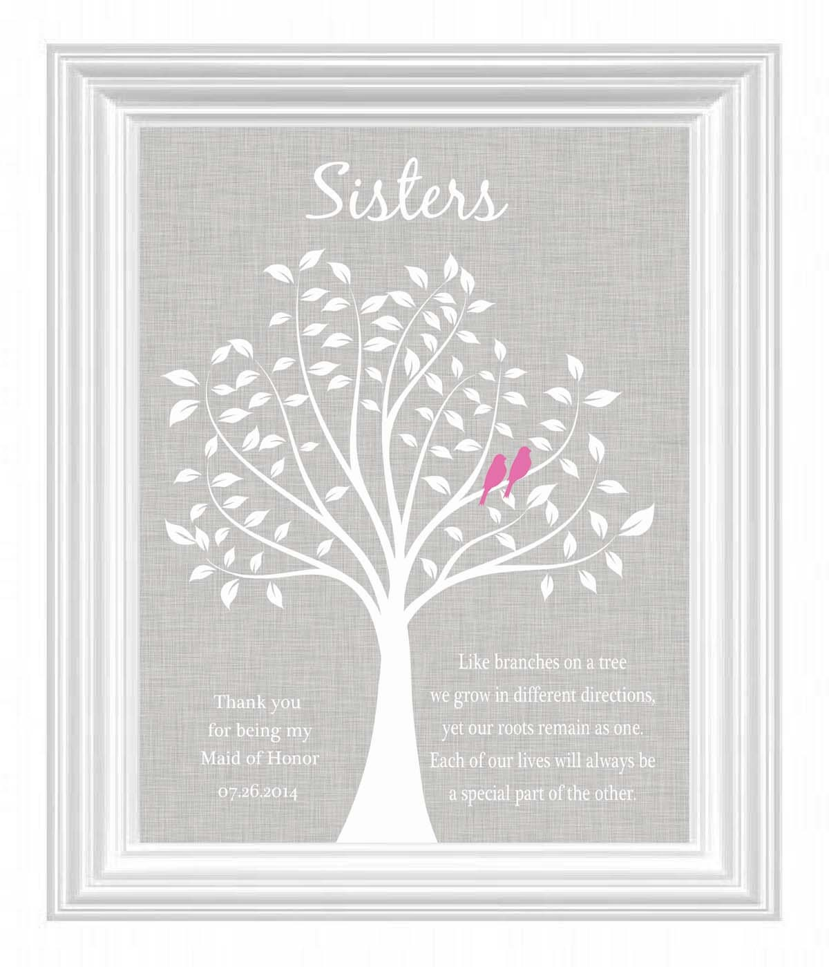 Sisters Personalized Gift Maid Of Honor Gift Wedding Gift