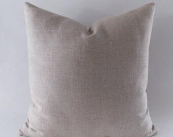 Beige Linen Pillow, Cushion Linen Cover,  Decorative Throw Pillow, Natural Linen Pillow,12,14,16,18,20,22,24,26,28,30 inches