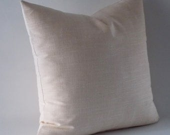 Natural Linen Pillow Cover,Rav Linen, Linen Throw pillow, Decorative Pillow cover