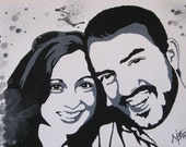 Custom Acrylic Canvas Painting of Two Subjects