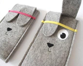 Woolfelt Rabbit iPhone sleeve