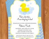 Rubber Duck Invitation | Baby Shower | Printable Editable Digital PDF File | Instant Download | BSI210DIY