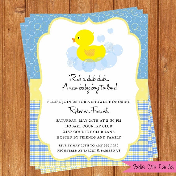 rubber duck baby shower invitations bsi210diy 5 5 x editable