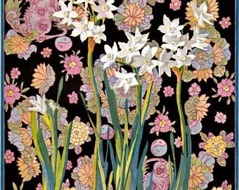 ODDBALL, Offbeat Vintage Flower Illustration. Digital Vintage Illustration DOWNLOAD. Perfect For Greeting Cards.