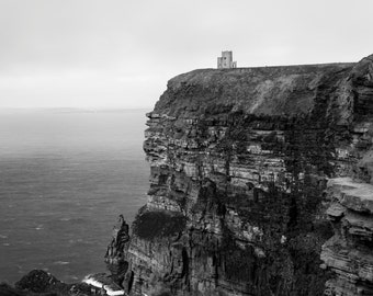 Cliffs of Moher Ireland Landscape Photography - Black and White - Limited Edition Print - 8x10, 12x15, 16x20, 20x25, 24x30