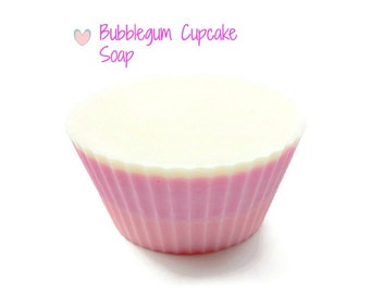 Bubblegum Cupcake Soap-Shea Butter Soap,Pink Soap,Gifts for Tween Girls