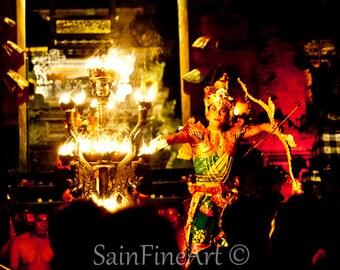 """Balinese Dancer - Bali - Bali Culture - Dance Trance - Fine Art Photography 8""""X8"""" - Home Decor"""