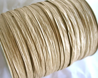 Raffia Paper Ribbon in KRAFT 100Y Roll