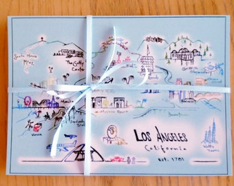 Los Angeles Postcards Pack one dozen by local artist