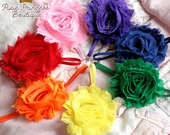 Rainbow Bright - Rainbow Headband Set, Shabby Chic Headband, Photography Prop, Baby Shower Gift, Baby Headband, Headband Set, Rainbow