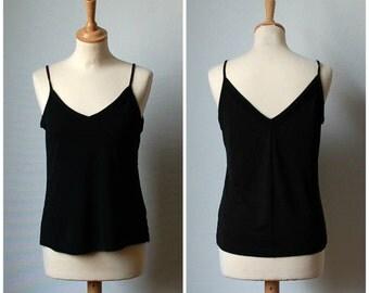 Vintage Black Camisole, Women's size S/M