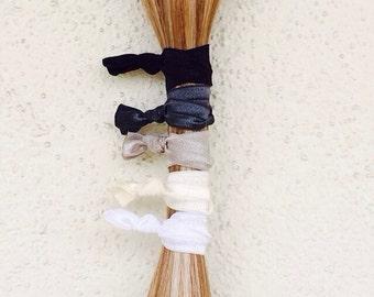 5 Pack of Gray Scale Hair Ties