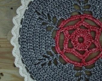 Doily, mandala, crochet mandala, flower mandala, retro mandala, crochet doily, retro home, crochet coaster
