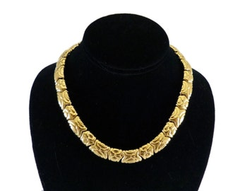 Signed PCI Chunky Gold Plated Necklace