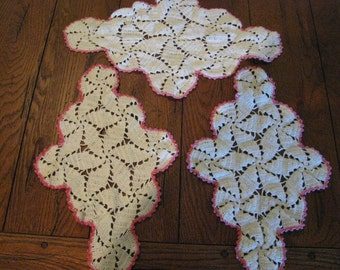 Vintage Pink and White Doilies
