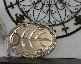 Vintage Silver Leaf Platter