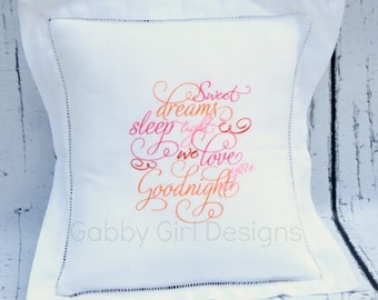 Linen Baby Pillow Baptism Christening Shower Gift