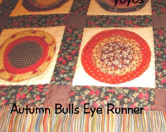 AUTUMN BULLSEYE RUNNER Patchwork Home Table Décor Wall Banner