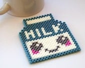 Milk Carton Coaster 90s Retro Coffee and TV