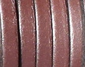 """1 meter /40"""" genuine leather 5mm flat Dark Brown first qualityleather cord"""