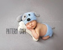 Crochet Dog Hat And Diaper Cover Pattern : Popular items for boy puppy hat on Etsy