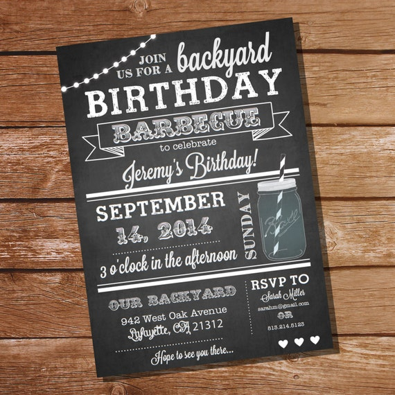 black and white 30th birthday invitations