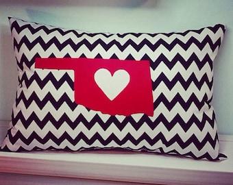 Black & White Zigzag Appliquéd Oklahoma Pillow