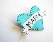 Customizable! - Mamá - Heart Felt Brooch