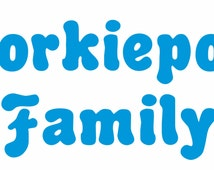 Yorkiepoo Family - Decal - Heart Paw Prints Design