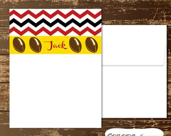 Football Stationery Set, Notecards and Envelopes