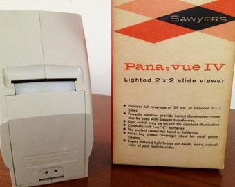 SALE-1950's Pana Vue IV Lighted Slide Viewer Original Box