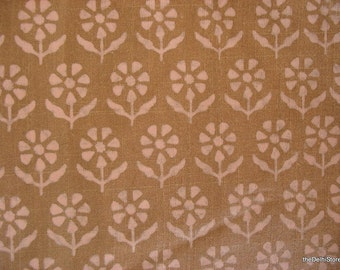 Floral Print Cotton Silk Fabric by Yard