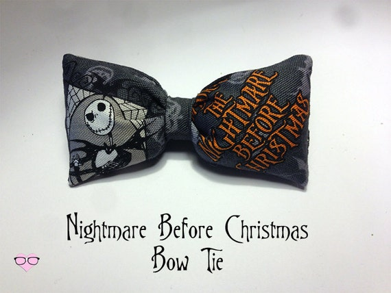Nightmare Before Christmas Bow Tie
