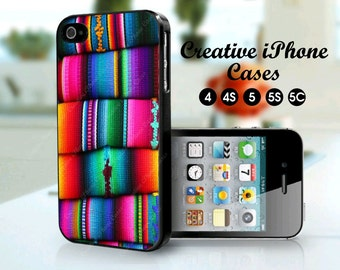 Serape iPhone 5 case, iPhone 5 case serape blanket art, iPhone 4s, iPhone 5, iPhone 5s, iPhone 5C, iPhone 6, iPhone 6 Plus