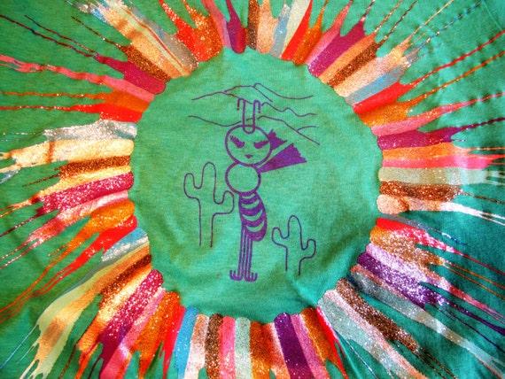 Vintage 80s arizona souvenior t shirt light teal by for Pastel teal paint