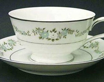 Mint Noritake Leonore pattern Cup & Saucer