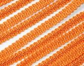 "3/8"" Wide Orange Braided French Gimp Trim Ribbon Scrapbooking 25 Yards"
