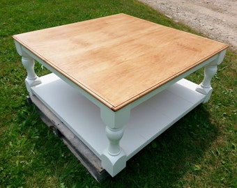 Coffee Table, FREE SHIPPING, Country, French, Rustic, Turned Legs