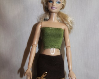 Brown Skirt for Barbie